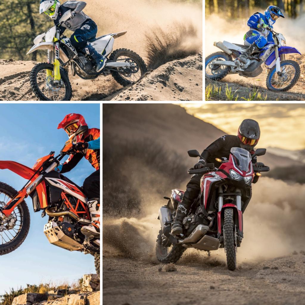 Wat is het verschil tussen off road, all road, adventure, dual-sport, enduro en motocross?